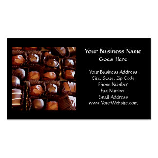 Box of Chocolates, Tempting Chocolate Candy Double-Sided Standard Business Cards (Pack Of 100)