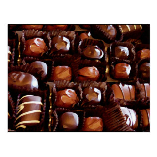 Box of Chocolates, Tempting Chocolate Candy Post Card