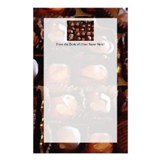 Box of Chocolates, Tempting Chocolate Candy Stationery