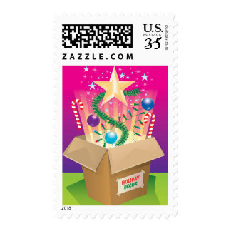 Box of Christmas decorations Postage