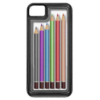 Box of coloured pencils iPhone SE/5/5s case