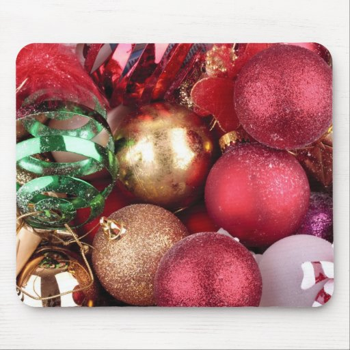 Box of decorations mouse pad