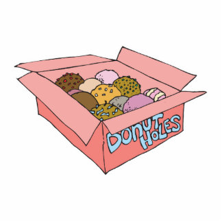 box of donut holes acrylic cut outs