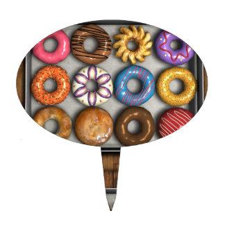 Box of Doughnuts Cake Topper