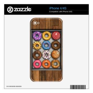 Box of Doughnuts Decals For The iPhone 4S