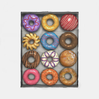 Box of Doughnuts Fleece Blanket