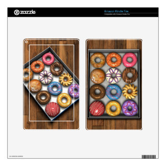Box of Doughnuts Kindle Fire Decal