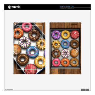 Box of Doughnuts Skins For Kindle Fire