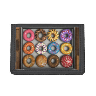 Box of Doughnuts Trifold Wallet