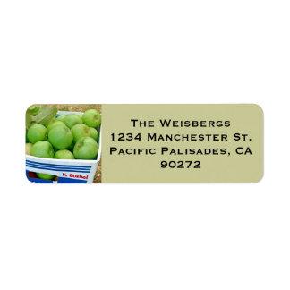 Box of Green Apples Label