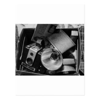 Box of Old Kodak Cameras Postcard