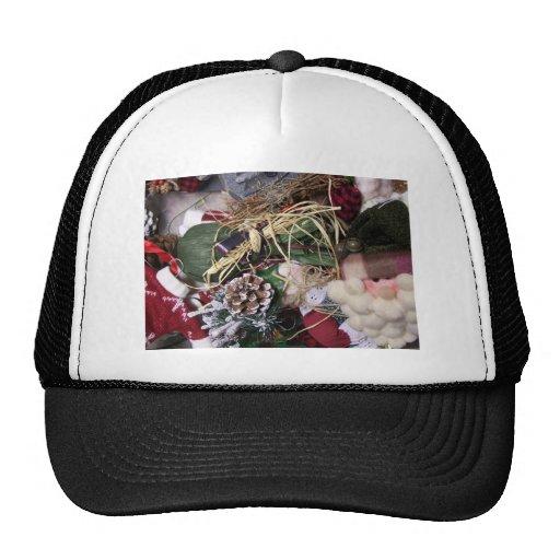 box of ornaments trucker hat