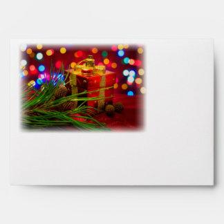 Box of Presents & Santa Envelope