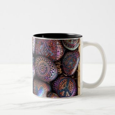 Coffee Themed Box of Rocks Mug! Two-Tone Coffee Mug