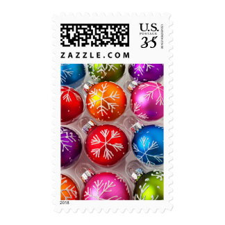 Box of Snowflake Christmas ornaments Postage
