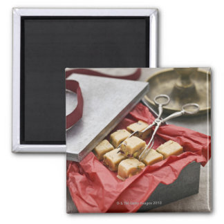 Box of toffee candies 2 inch square magnet