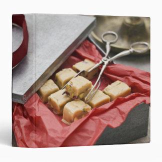 Box of toffee candies binder