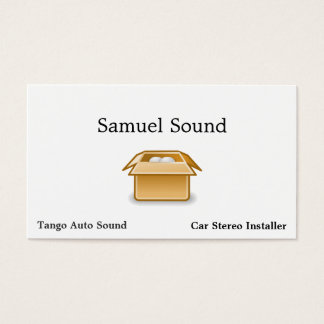 Box Packing Shipping Business Card