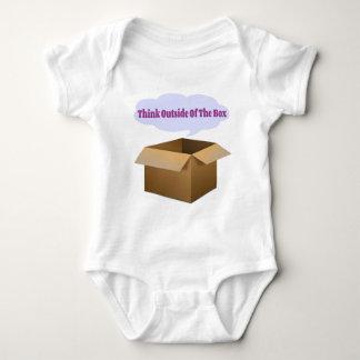 box slogan baby bodysuit