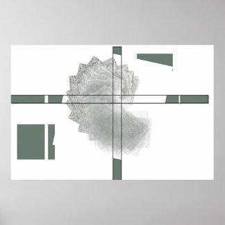 Box-swirl With Cross Print
