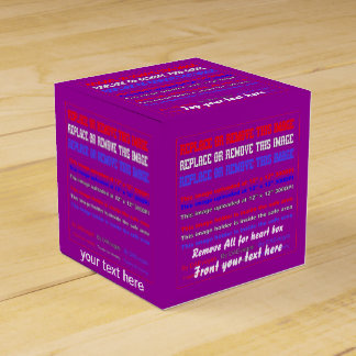 Box Template Over 37 Color Back View About Design Party Favor Box