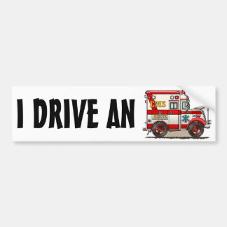 Box Truck Ambulance Bumper Sticker IDA