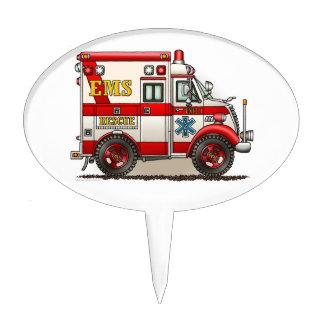 Box Truck Ambulance Cake Topper