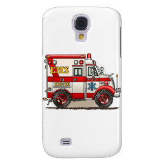 Box Truck Ambulance Cover Galaxy S4 Cases