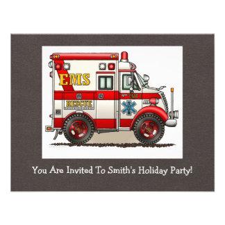 Box Truck Ambulance Custom Invites