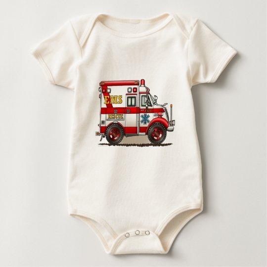 Box Truck Ambulance Infant Creeper