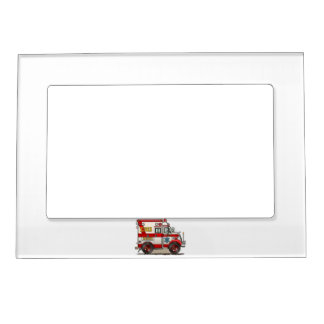 Box Truck Ambulance Magnetic Picture Frame