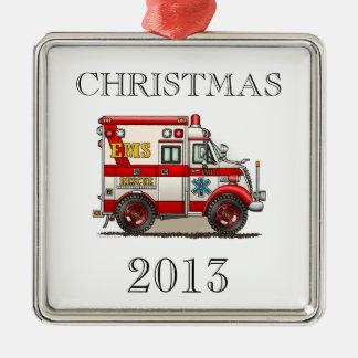 Box Truck Ambulance Metal Ornament