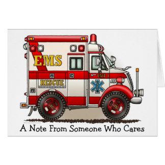 Box Truck Ambulance Note Card