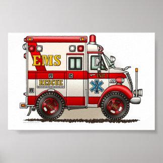 Box Truck Ambulance Poster