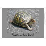 Box Turtle Ring Bearer Request Card