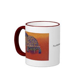 Box Turtle, tortoise Ringer Coffee Mug