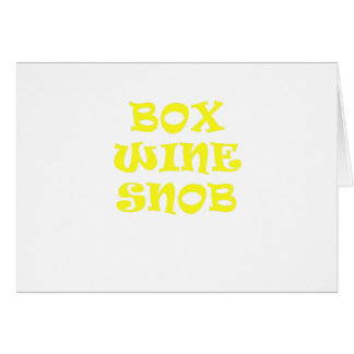Box Wine Snob Card