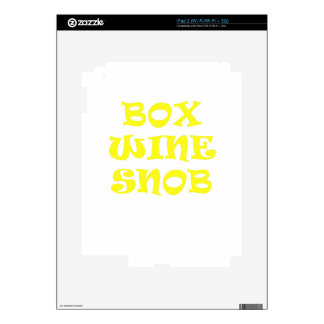Box Wine Snob Decals For The iPad 2
