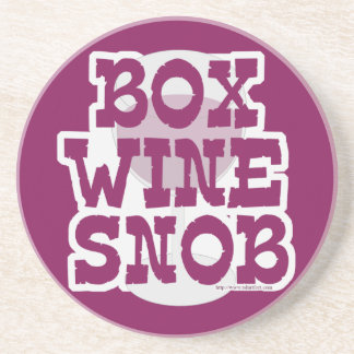 Box Wine Snob Drink Coaster