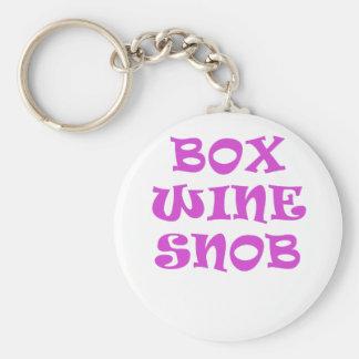 Box Wine Snob Keychain