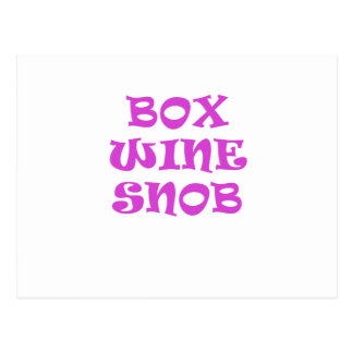 Box Wine Snob Postcard
