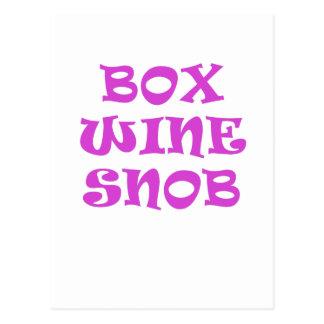 Box Wine Snob Postcard