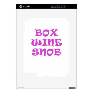 Box Wine Snob Skin For iPad 2