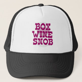 Box Wine Snob Trucker Hat