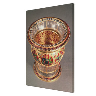 Box with plique-a-jour and cloisonne canvas print