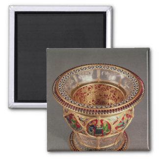 Box with plique-a-jour and cloisonne magnet