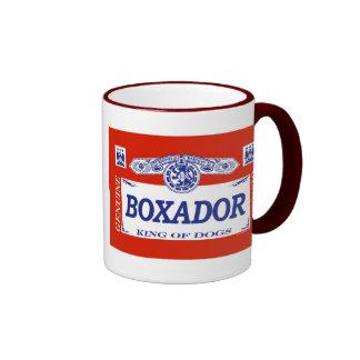 Boxador Ringer Coffee Mug