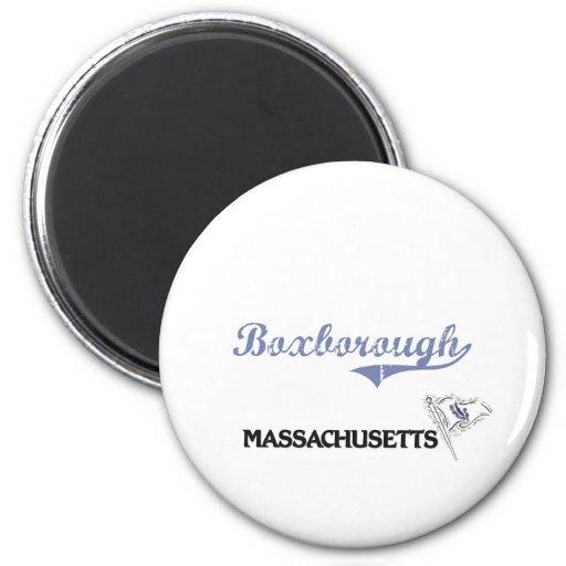 Boxborough Massachusetts City Classic Fridge Magnets