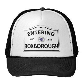 BOXBOROUGH MASSACHUSETTS Hometown Mass MA Townie Trucker Hat