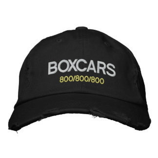 Boxcars! Embroidered Baseball Hat